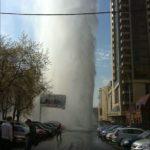 Прорыв трубы в Екатеринбурге