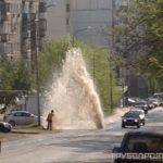 Четырех метровый фонтан в Уфе